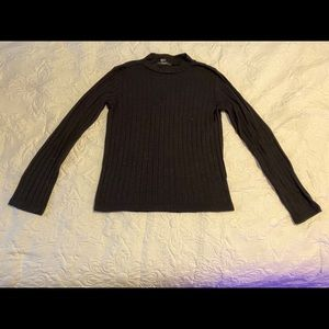 Forever 21 black turtle neck blouse